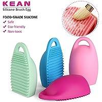 K&C Pulizia del guanto di silicone Consiglio spazzola cosmetica trucco debugger CLEANTOOL 4 pacchetti