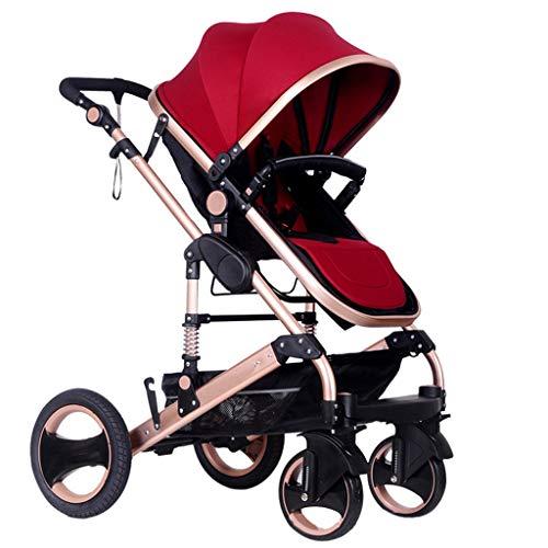Baby trolley PIGE Kinderwagen - Outdoor-Kinderwagen faltbar Kinderwagen, Super-Stoßdämpfer-System, sitzen liegend, Multi-Range Verstellbarer Sonnenschirm