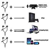 Samoleus In Ears Kopfhörer mit Verstellbarem Mic, 3.5MM Wired Earbuds Gaming Earphones Ohrhörer mit 3 Pairs Different Sizes Earbuds für PS4, Xbox, PC, Laptop, Mobile Phone (Schwarz - In Ear) - 6