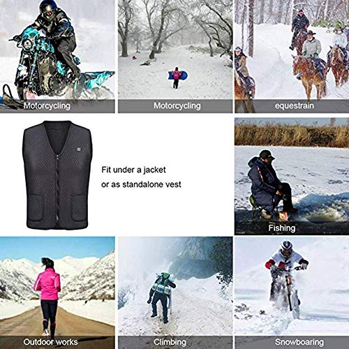 51HVfpzZOCL. SS500  - OUTANY USB Rechargeable Electric Body Warm Vest, Temperature Adjustable, Washable, Heated Clothing
