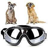 YOUTHINK Hunde Sonnenbrille, Verstellbare Hundebrille Haustier Sonnenbrille Modischer Augenschutz Winddichte Regensichere Sonnenbrille für Mittelgroße und Große Hunde