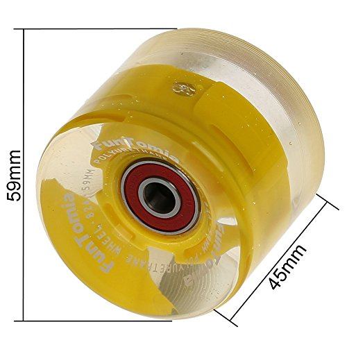 Zoom IMG-2 funtomia 4 pezzi led longboard