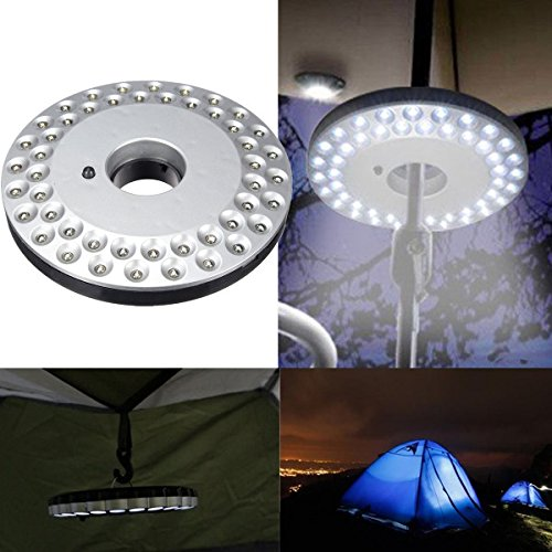 Bluelover 48 luminoso ha condotto l'ombrello all'aperto Escursionismo Yard lampadaCampeggio luce di notte