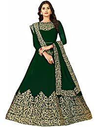 5db158340b4 FFASHION Women s Faux Georgette Self Design Semi Stitched Embroidery Salwar  Suit Duppata Material - Free Size