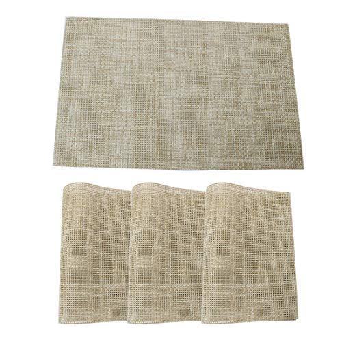 uxcell abwaschbare Tischsets aus PVC, rechteckig, 12 x 18 cm, hitzebeständig, schmutzabweisend, Rutschfest, für Küche und Esstisch, 4 Stück #7 -