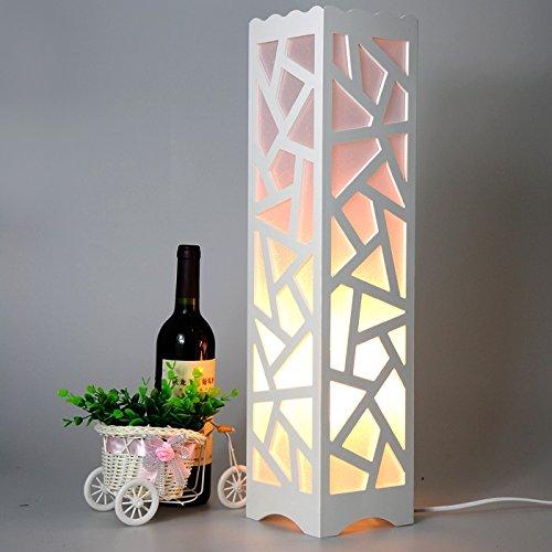 FANDBO@ Moderne Minimalist Kreative Wohnzimmer Schlafzimmer Arbeitszimmer Raum Weiß Led Ausgehöhlte Skulptur Stehlampe 14 * `14 * 60cm