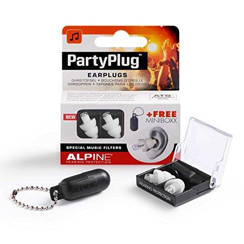 Alpine PartyPlug - Gehörschutz für Musik, Konzerte & Festival, Gratis Miniboxx, transparent (Fall Pille Große)