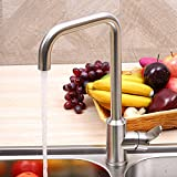 Tourmeler New Stainless Steel Kitchen Faucet Single Holder For Kitchen Sink Mixer Taps Deck Mounted Hot And Cold Water Faucets