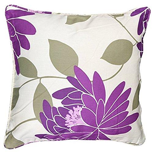 Luxe Serene Housses de coussin de 45,7 x 45,7 cm par Bedway ~ moderne   décoratifs   tendance   facile à nettoyer, bordeaux, Pack of 1