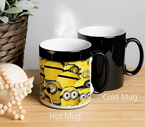 "Image of Despicable Me Minion Magical Colour Changing Mug! Other Side Shows ""Song as old as Rhyme"" Ideal as tea mug, coffee mug, tea cup, coffee cup, hot chocolate cup, hot chocolate mug. Great gift for birthdays, Christmas, Anniversary etc."