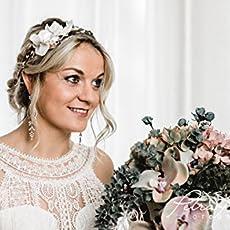 Brauthaarband Blumenkranz Bluten Diadem Braut Frisur Hochzeit Boho