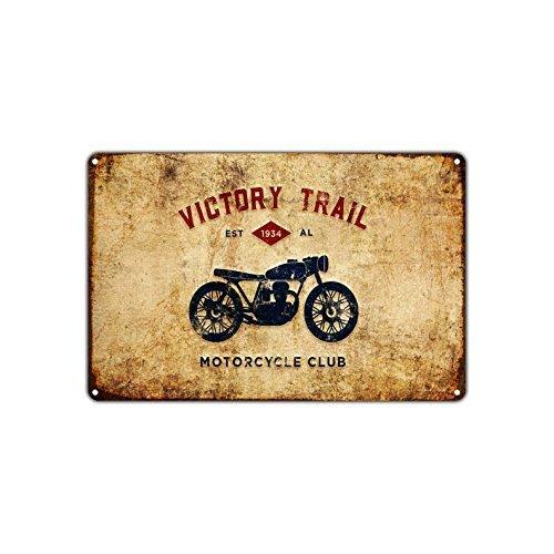 Retro Blechschilder Victory Trail Motorrad Club Est 1934 Bike Blechschild Geschenk Home Street Garage Tür Dekor -