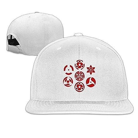 Sophie Warner Adjustable Unisex Sharingan Set Of 7 Pins Peaked Cap White One Size