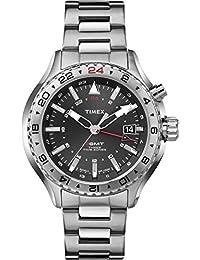 Timex–T2P424–Intelligent Quartz–Armbanduhr–Quarz Analog–Zifferblatt schwarz Armband Stahl Grau