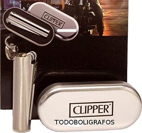 Briquet Metal - Briquet Clipper Métal Essence - Rechargeable -