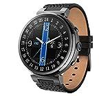 WYL Fitness Tracker Smart Sports Pulsera Ritmo Cardíaco Paso a Paso GPS Impermeable Música 2 + 16G Reloj Inteligente para Hombres Y Mujeres para Android - 1.3 Pulgadas,B,Reloj inteligen