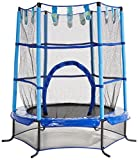 Etan Trampolin Set für Drinnen Classic Sichheitsnetz, Blau, 140 cm, EC55CB