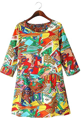 Laruise Damen Abstract Printed Shift Dress Xxx-Large Abstract Print Shift