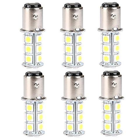 Safeyo 1157 18 LED SMD Light Bulbs for RV SUV MPV Car Turn Tail Signal Brake Light Lamp Backup Lamps (Pure White,