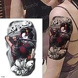 tatuaggio braccio manica grande impermeabile tatuaggio temporaneo tatto samurai giapponese tatuaggio giapponese acqua trasferimento tatoo sticker donne