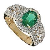 Harry Ivens Damen-Ring Gold Gelbgold 585 (14 Karat) Smaragd Saphir RW16
