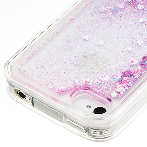 """Nnopbeclik [Coque Iphone 4 Silicone] Paillettes Briller Style Backcover Doux Soft """"Transparente"""" Housse pour Iphone 4 Coque Silicone (3.5 Pouce) Antichoc Protection Antiglisse Anti-Scratch Etui - [Ble pink1"""