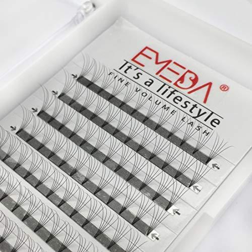 EMEDA 5D pestañas volumen ruso C Curl 0.07mm