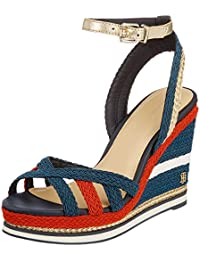 Tommy Hilfiger Corporate Wedge Sandal Sporty, Alpargata Para Mujer