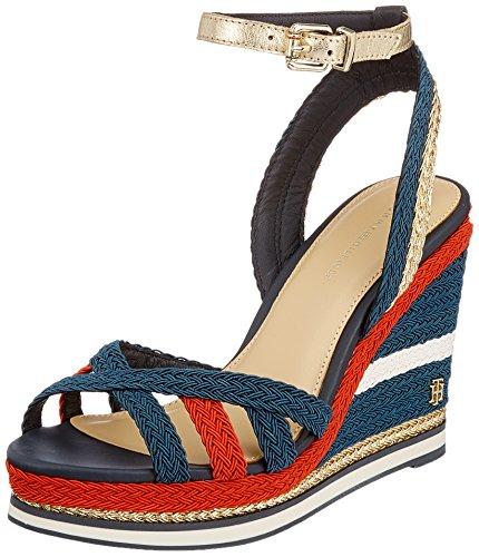 Tommy Hilfiger Corporate Wedge Sandal Sporty, Alpargata para Mujer, Azul  (RWB 020) e810ac6c55