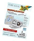 Glorex GmbH Folia 150560 - Doppelkarten, ca. 10,5 x 15 cm, je 5 Karten (220 g/qm), Kuverts und Einlagen, silber