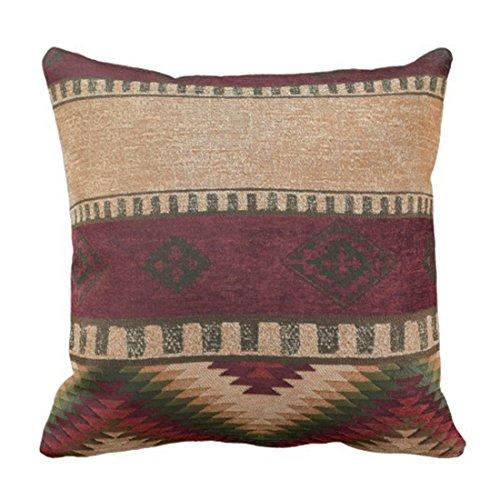 emvency manta funda de almohada Tribal patrones geométrico indio nativo Wester decorativa Funda de almohada Western decoración para el hogar cuadrado 18x 45,72cm Cojín funda de almohada