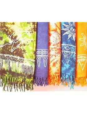 Sarong Stampa Batik, in diversi colori blu ca. 160 x 115 cm