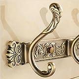 Muzyo Talla de la pared ganchos del traje antiguos 4-8 fila puerta ganchos gancho de percha para accesorios de baño, 1