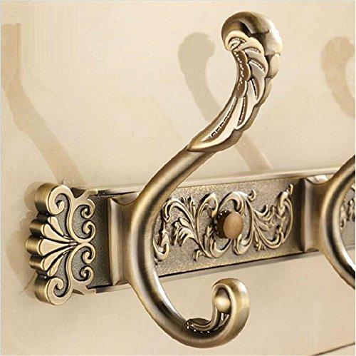 HomJo Talla de la pared ganchos del traje antiguos 4-8 fila puerta ganchos gancho de percha para accesorios de baño , 1