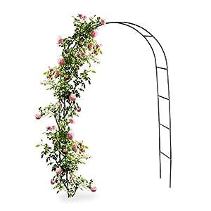 Relaxdays 10010020 Arco per Rampicanti, Decorazione Giardino, Sostegno per Piante 240 x 140 cm