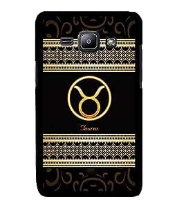 Fuson 2D Printed Sunsign Taurus Designer back case cover for Samsung Galaxy J1 - D4271