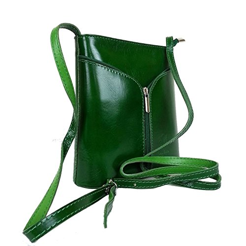 Vera Pelle, Borsa a tracolla donna nero Black / Tan small Green