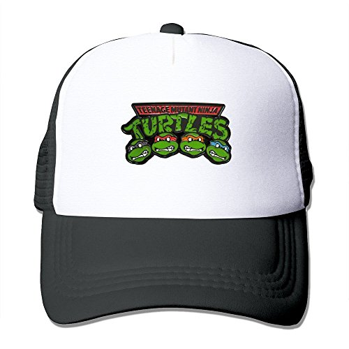 Feruch New Style Adult Unisex TMNT-classic-logo 100% Nylon Mesh Caps One Size Fits Most Adjustable Mesh Hats Black