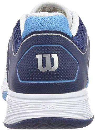Wilson  RUSH NGX, Baskets de tennis hommes Multicolore - Mehrfarbig (Maritime Blue Wilson /Marine Navy Wilson/White)