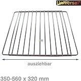 ORIGINAL Bauknecht Grillrost Rost Gitter chrom Backofen Herd Kühlschrank ausziehbar 35-56cm x 32cm