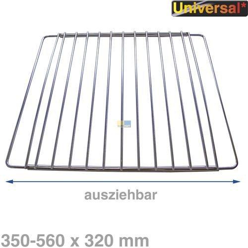 Original bauknecht griglia ruggine griglia cromo forno, frigorifero estensibile 35–56cm x 32cm
