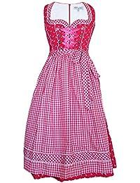 55 cm Mini Lekra Dirndl Damen Kleid Oktoberfest Hanna mit Schürze