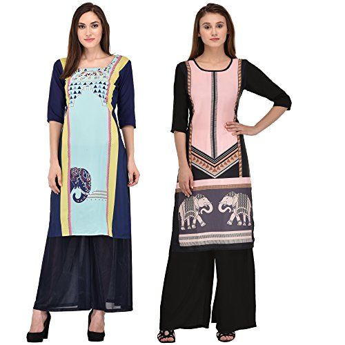 kurti combo for women low price from style badge ( Pack of...
