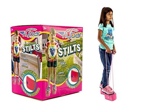 Rosa Bungee-seile (My First Flybar Kids Stelzen für Kinder ab 3& Up, weich und sicher Schaum Pogo Stepper Quietschen mit jedem Schritt–Schaumstoff-Griffe mit stabilem Seil Griffe, rose)
