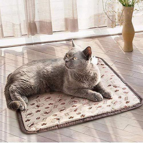 CHONGWFS Pet Heizung Padfor Hund Katze Heizmatte Indoor Elektro-wasserdichte Hunde erhitzte Auflage mit Chew Resistant Cord, Haustier-Decke -