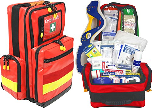 Urlaub E-mail O (Erste Hilfe Notfallrucksack für Jugendgruppen u. Zeltlager - Plane mit gelben Reflexstreifen)