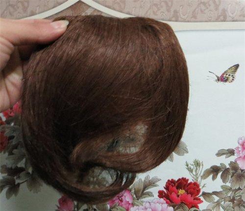 20,3 cm Blond Doré (# 16) cheveux humains véritables cheveux Fashion avant Neat Bang franges One cheveux