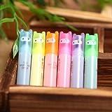 Fendii - Lovely Ninja mini marcadores fluorescentes en 6 colores, 6 piezas.