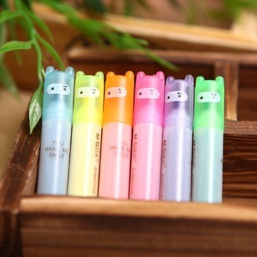 fendii-lovely-ninja-mini-fluorescent-surligneur-stylo-marqueurs-6-couleurs-lot-de-6