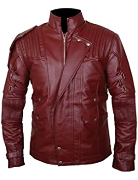 F&H Men's Guardians of the Galaxy Vol 2 Chris Pratt Star Lord Genuine Leather Jacket